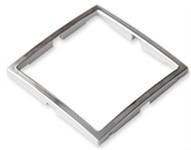 Вставка в рамку одноместная BYLECTRICA Уют серебряная, 3 штуки
