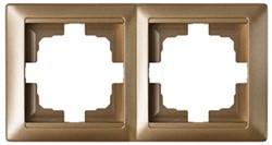 Рамка двухместная BYLECTRICA Стиль, бронза