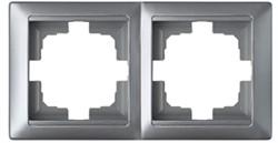 Рамка двухместная BYLECTRICA Стиль, серебро