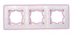 Рамка трехместная BYLECTRICA Уют, белая с окантовкой