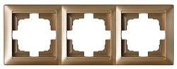 Рамка трехместная BYLECTRICA Стиль, бронза