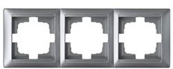 Рамка трехместная BYLECTRICA Стиль, серебро