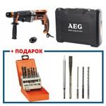 Перфоратор AEG KH 28 SUPER XEK KIT4 (1010 Вт, 2.8 Дж, 0-5000 уд/мин.)