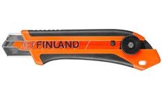 Нож строительный FINLAND 1865, лезвие 25мм, с фиксатором
