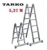 Лестница 5,27 метра, TARKO шарнирная 2-х секционная трансформер