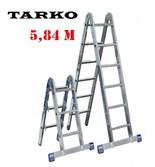 Лестница 5,84 метра, TARKO шарнирная 2-х секционная трансформер