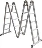 Лестница шарнирная алюм. многофункц. 4х5 ступеней (стрем.-280 см, лестн.-570 см) 15,2 кг STARTUL