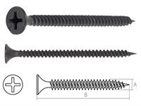 Саморез 3.5х25 мм для монтажа ГКЛ к металлу, фосфат (1000 шт в карт. уп.) STARFIX