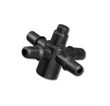 Соединитель крестообразный для шланга 4 мм