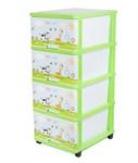 Комод пластмассовый детский с 4-мя выдвижными ящиками игровой 51*40*100 см (арт. 040310, код 118748)