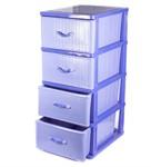 Комод пластмассовый с 4-мя выдвижными ящиками 51*40*100 см (арт. 04014, код 680076)