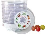 Сушилка для овощей и фруктов Ветерок-2 (6 поддонов, прозрачный,600Вт, 400 мм)
