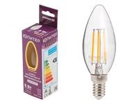 Лампа светодиодная филаментная C37 СВЕЧА 6 Вт E14 3000К ЮПИТЕР ДЕКОР (60 Вт аналог лампы накал., 460Лм)