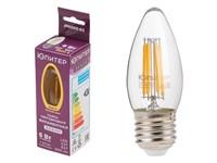 Лампа светодиодная филаментная C37 СВЕЧА 6 Вт E27 3000К ЮПИТЕР ДЕКОР (60 Вт аналог лампы накал., 460Лм)