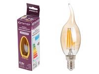 Лампа светодиодная филаментная CA35 СВЕЧА НА ВЕТРУ 6 Вт E14 3000К ЮПИТЕР ДЕКОР (60 Вт аналог лампы накал., 460Лм)