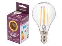 Лампа светодиодная филаментная G45 ШАР 6 Вт E14 3000К ЮПИТЕР ДЕКОР (60 Вт аналог лампы накал., 600Лм)