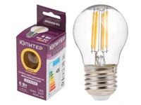 Лампа светодиодная филаментная G45 ШАР 6 Вт E27 3000К ЮПИТЕР ДЕКОР (60 Вт аналог лампы накал., 460Лм)