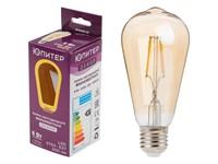 Лампа светодиодная филаментная ST64 6 Вт E27 3000К ЮПИТЕР ДЕКОР (60 Вт аналог лампы накал., 500Лм)