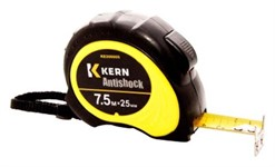 Рулетка измер. ANTISHOCK, 7,5м/25мм, 2-стор. желт. лента, автоcтоп.+2фикс., корп.2К,магнит KERN