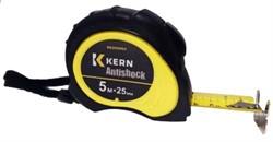 Рулетка измер. ANTISHOСK, 5м/25мм, 2-стор. желт. лента, автоcтоп.+2фикс., корп.2К, магнит KERN
