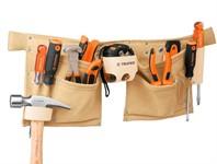 Поясная сумка для инструмента (кожа, 13 отделений), TRUPER