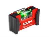 Уровень 68 мм 1 глазок пластм. GO! magnetik CLIP! (SOLA) магнитный, с держателем на пояс