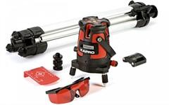 Лазерный уровень (нивелир) Kapro 875 набор (4 вертикали, 1 горизонталь, точка отвеса, тренога, очки)