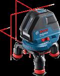 """Линейный лазерный нивелир BOSCH GLL 3-50 (проекция: 3 плоскости, до 50 м, +/- 0,3 мм, резьба 1/4, 5/8"""")"""