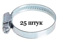 Хомут червячный (80-100 мм), ширина 9 мм, оцинк. (упак/25шт)