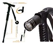 Трость телескопическая с подсветкой «ОПОРА» BRADEX