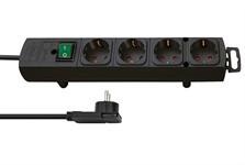 Удлинитель 2м (4 роз., 3.3кВт, с/з, выкл., ПВС 3х1,5мм2 ) черный Brennenstuhl Comfort-Line Plus