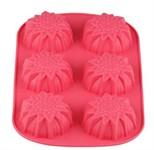 Форма для выпечки, силиконовая, прямоуг. на 6 кексов, 27.5 х 18 х 3 см, FRUIT DOVE, PERFECTO LINEA