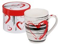 Кружка керамическая в подарочной упаковке, 360 мл, С любовью-1, PERFECTO LINEA