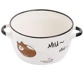 Супница керамическая, 140 мм, круглая, серия Миу-Миу, коричневый кот, PERFECTO LINEA (объем 800 мл)