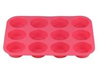 Форма для выпечки, силиконовая, прямоуг. на 12 кексов, 33 х 25 х 3 см, FRUIT DOVE, PERFECTO LINEA