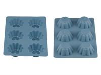 Форма для выпечки, силиконовая, прямоуг. на 6 кексов, 25.5 х 18 х 3 см, BLUESTONE, PERFECTO LINEA
