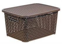 Ящик для хранения с крышкой РОТАНГ 370х280х190мм