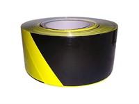Лента оградительная 75 мм/250 метров, ZOOM, черно-желтая (35 мкм полипропиленовая пленка)