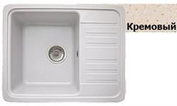 Кухонная мойка GRANICOM G-007 (630*485 мм), кремовая