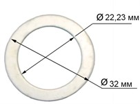 Кольцо переходное - адаптер 32/22,23 мм  (под болгарку)
