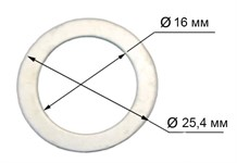 Кольцо переходное - адаптер 25,4/16 мм