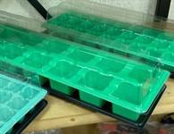 Мини-парник пластмассовый, 14 ячеек 525х160мм, яч. 56x56 мм
