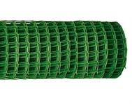Решетка заборная в рулоне, 1х20 м, ячейка 15х15 мм, пластиковая, зеленая