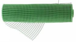 Решетка заборная в рулоне, облегченная, 0,8х20 м, ячейка 17х14 мм, пластиковая, зеленая