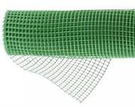 Решетка заборная в рулоне, облегченная, 1,5х25 м, ячейка 70х70 мм, пластиковая, зеленая