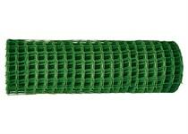 Решетка заборная в рулоне, 1,3х20 м, ячейка 70х55 мм, пластиковая, зеленая