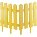 """Забор декоративный """"Классика"""", 29 х 224 см, желтый, Palisad"""