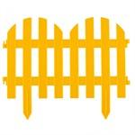 """Забор декоративный """"Романтика"""", 28 х 300 см, желтый, Palisad"""