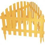 "Забор декоративный ""Винтаж"", 28 х 300 см, желтый, Palisad"