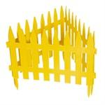 "Забор декоративный ""Рейка"", 28 х 300 см, желтый, Palisad"
